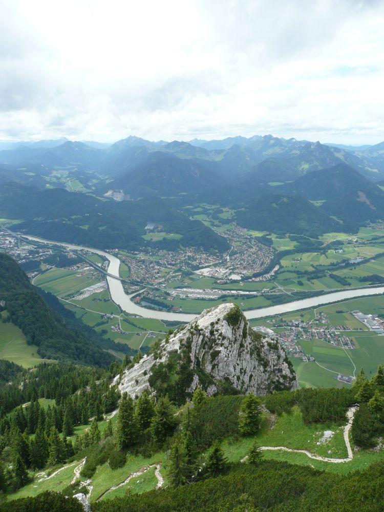 Blick vom Petersköpfel auf Kufstein.