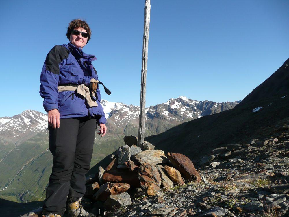 Selbstauslöserfoto mit verdeckter Wildspitze.